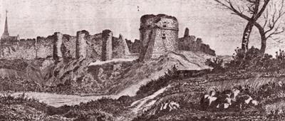 Gravure du château de Mortagne