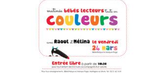 """Matinée bébés lecteurs @ Bibliothèque """"Le Marque Page"""""""