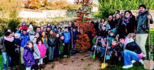 Plantation de l'arbre des naissances @ Parvis église Saint-Hilaire   Mortagne-sur-Sèvre   Pays de la Loire   France