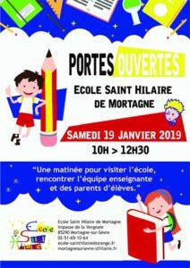 Portes ouvertes & Inscriptions @ École de Saint-Hilaire