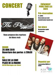"Concert ""The Playfull"" - Reprises de blues rock @ Salle de la Cave"