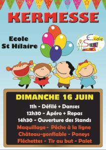 Kermesse de l'école Saint-Hilaire @ Coulée verte de Saint-Hilaire