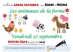 Matinée bébés lecteurs @ Bibliothèque le Marque-Page